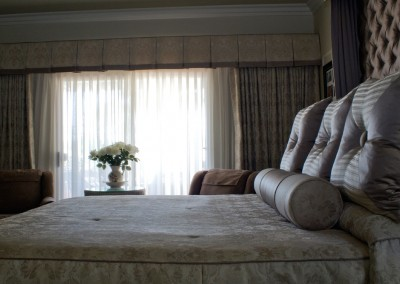 Unique window treatments and bedding